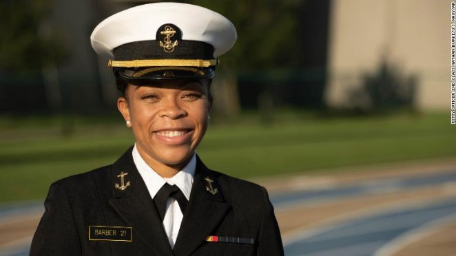 Sdyney Barber, US Naval Academy names first Black female brigade commander