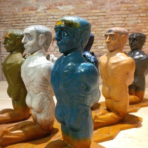 Biennale sculptures in Arsenale