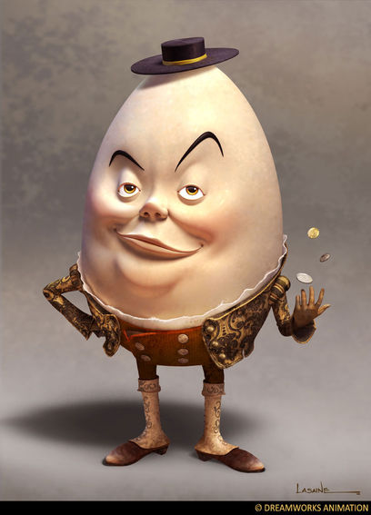Humpty Dumpty as puss in boots