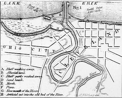 early map of cleveland