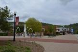 Near the Memorial Fountain on the CALU Campus