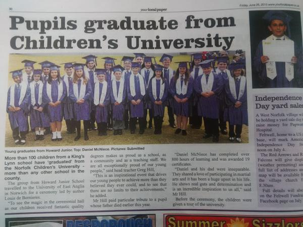 Pupils Graduate from Children's University