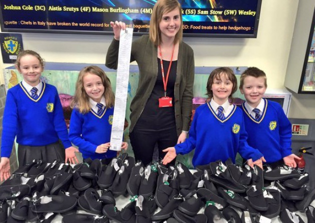 Pupils in King's Lynn send shoes to their sole-mates in Nepal