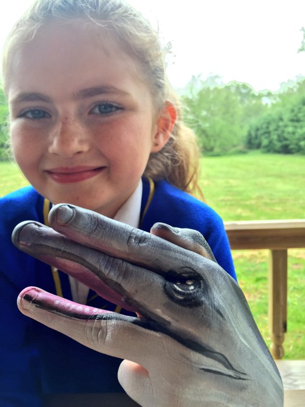 WWF hand painting