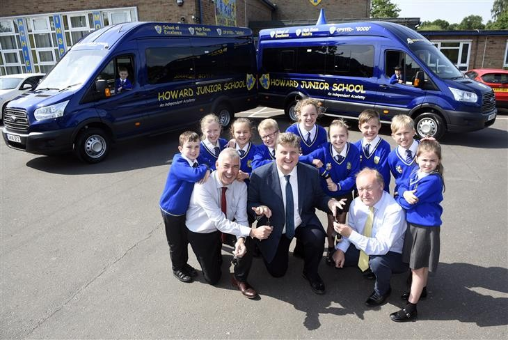 All aboard as King's Lynn school welcomes new wheels