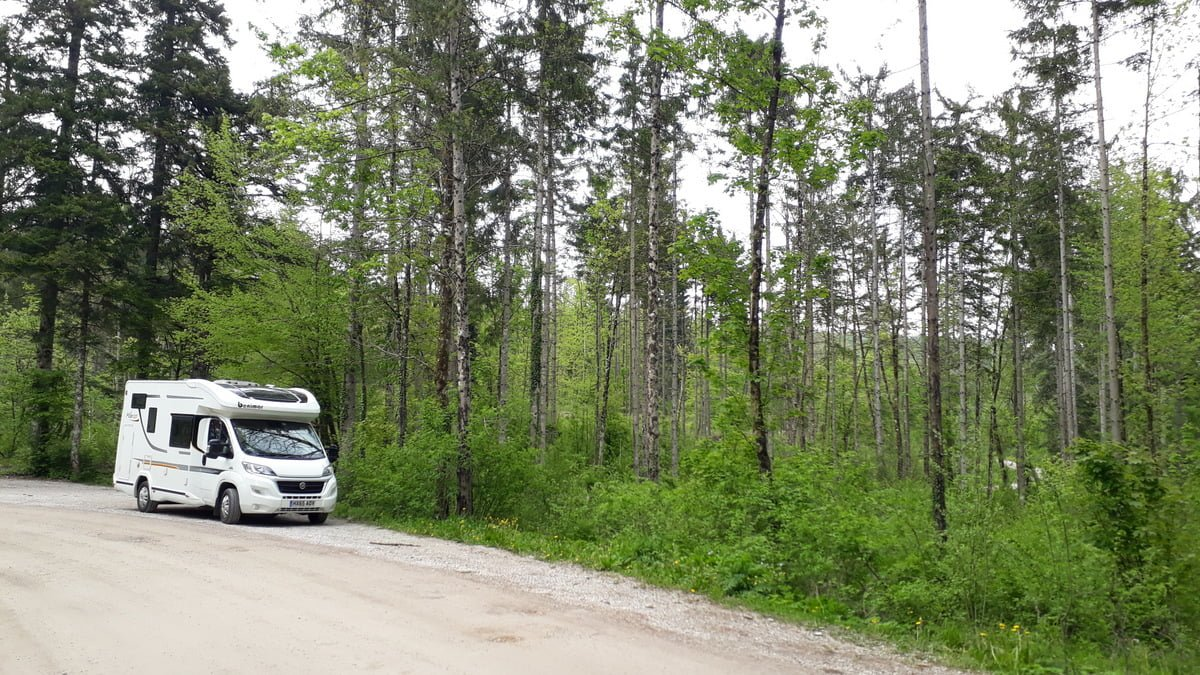 Wild camping in the motorhome in Slovenia