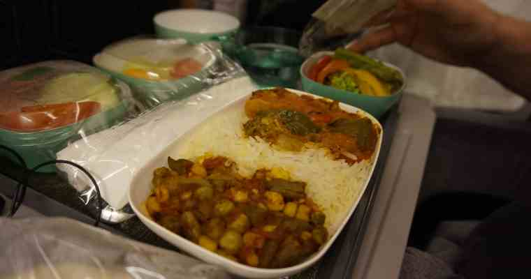 EVA Air Vegan Meals Review