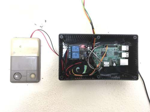 small resolution of the completed garage door opener