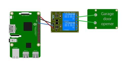 small resolution of raspberry pi garage door opener wiring diagram