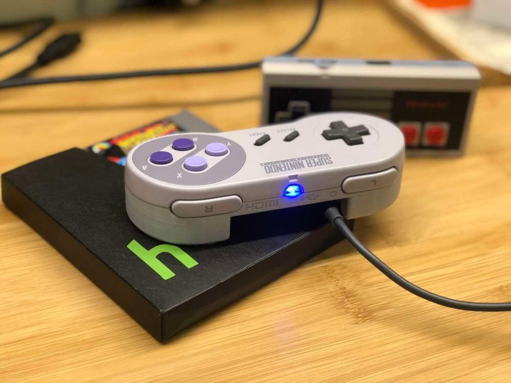 medium resolution of a raspberry pi in a super nintendo controller