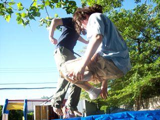 Jack and Travis get air