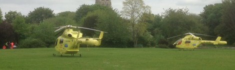 Air ambulances at the Ashes