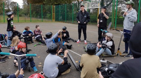 Youngsters pack out pop-up skatepark