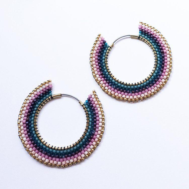 striped hoop earrings how