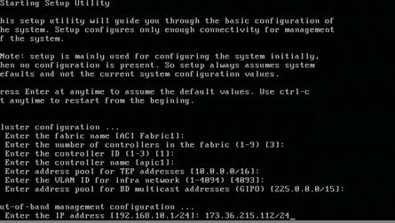 APIC Setup Config