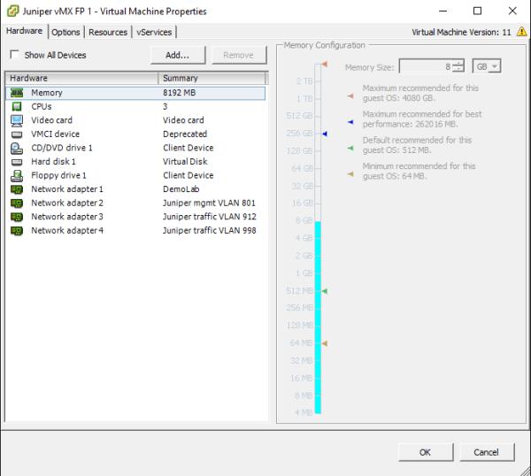 vMX on VMware 3
