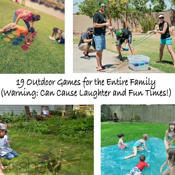 Outdoor Summer Family Games