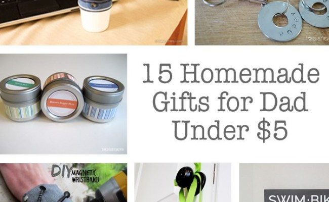 15 Homemade Gifts For Dads Under 5