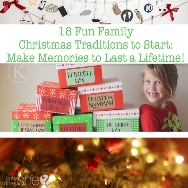 Start Family Traditions Christmas