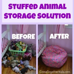 Hanging Bean Bag Chair Cheap Rocking Nursery 18 Hacks For Organizing A Bazillion Toys | Ideas Toy Storage
