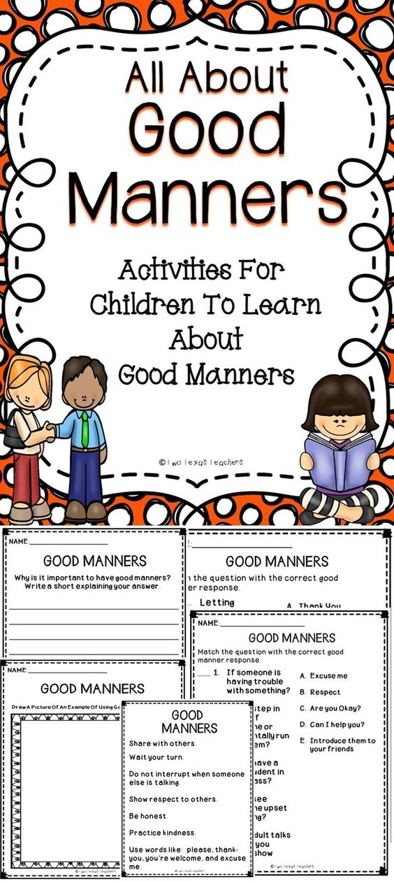 Church Manners Worksheet