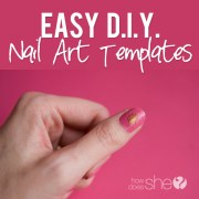 easy diy nail art templates