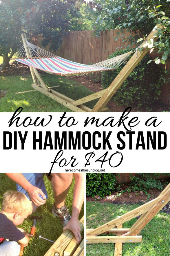hammock chair with stand burgundy covers wedding 14 diy hammocks and hanging swings to make summer naps awesome | how does she