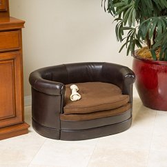 Leather Or Fabric Sofa For Dogs Cosmo Black And White Corner Top 5 Best Dog Beds Reviews - Care With