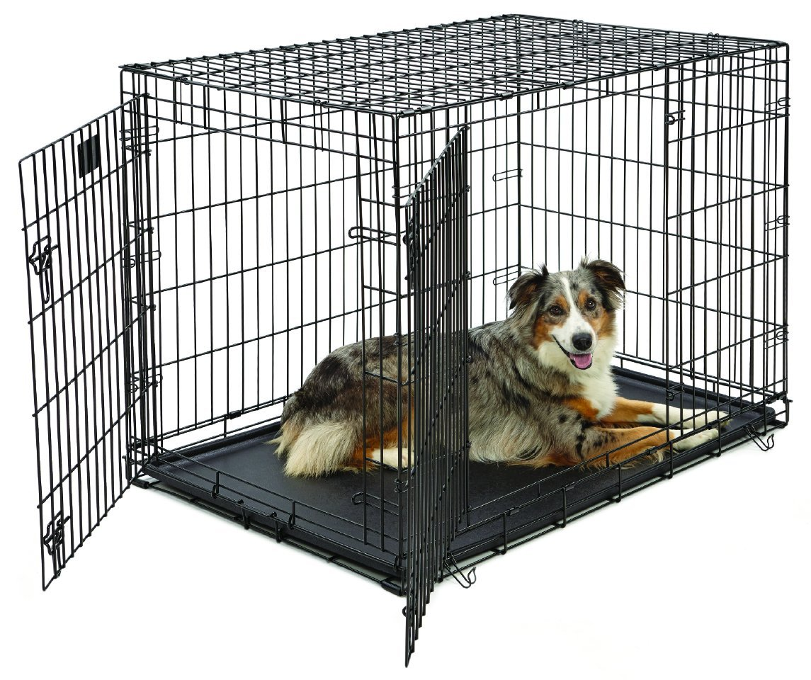 midwest life stages heavyduty folding metal dog crates