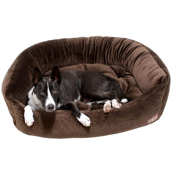 Best Dog Beds By Jax and Bones Ripple Velour Napper