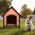 Tangkula Pet Dog House, Wooden Pet Kennel