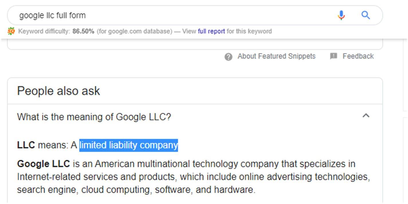 Google Limited Liability Company
