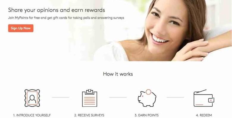 MyPoints - Siti di sondaggi affidabili per fare soldi extra