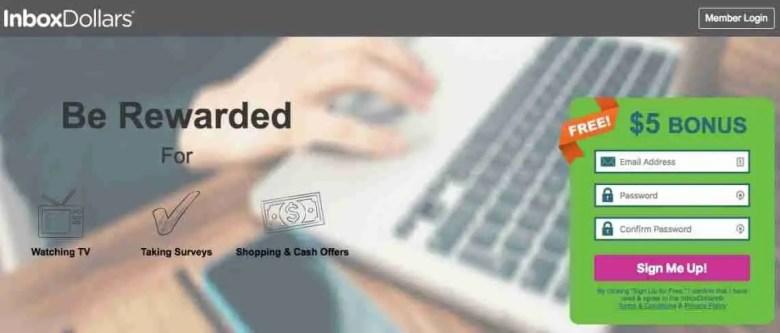 InboxDollars - Siti di sondaggi affidabili per fare soldi extra