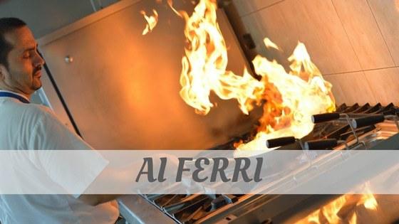 How To Say Ai Ferri