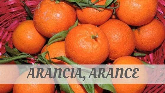 How To Say Arancia