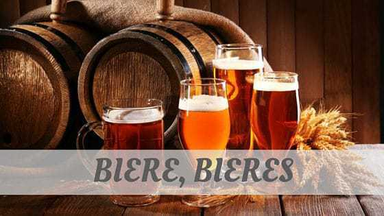 How To Say Bière