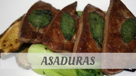 How To Say Asaduras