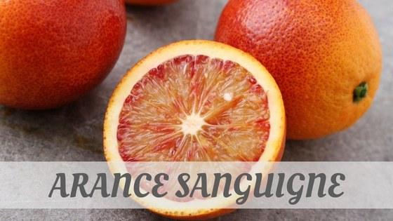 How To Say Arance Sanguigne