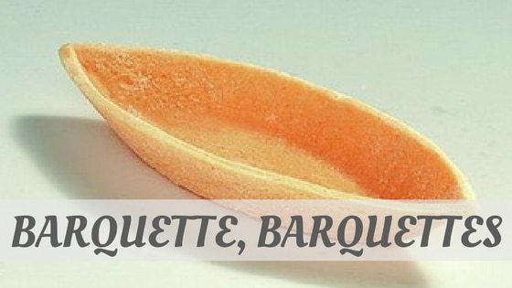 How To Say Barquette