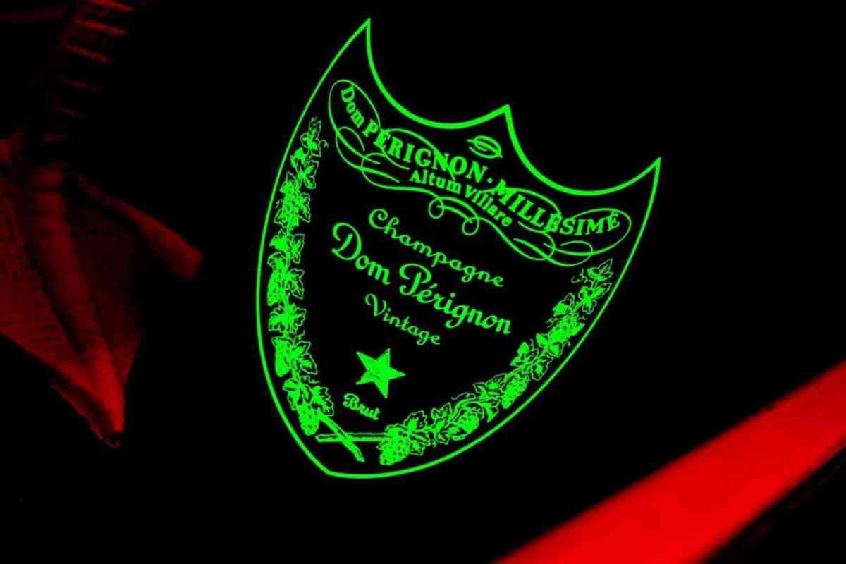 Dom perignon champagne label