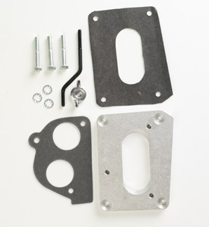 "#H2J - ADAPTER PLATE: Holley 500 2-bbl to GM TBI, .5"" thick"