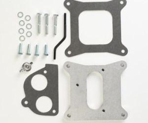 """#H4T2G - ADAPTER PLATE: Holley 4-bbl to GM TBI .5"""" Thick"""