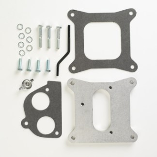 "#H4T2H - ADAPTER PLATE: Holley 4-bbl to 2 TBI, .75"" Thick"
