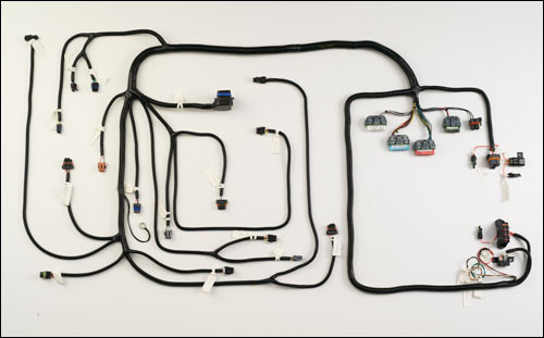 HV57 - VORTEC HARNESS: 1996-01 5.7L SFI w/manual or non-electronic  transmission - Howell EFI Conversion & Wiring Harness Experts   Vortec Wiring Harness      Howell EFI