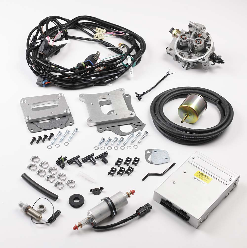 complete tbi kits howell efi conversion & wiring harness experts omc tachometer wiring diagram hc235 chevrolet 235 cid tbi conversion kit