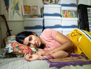 Portrait of Baseera Khan at home