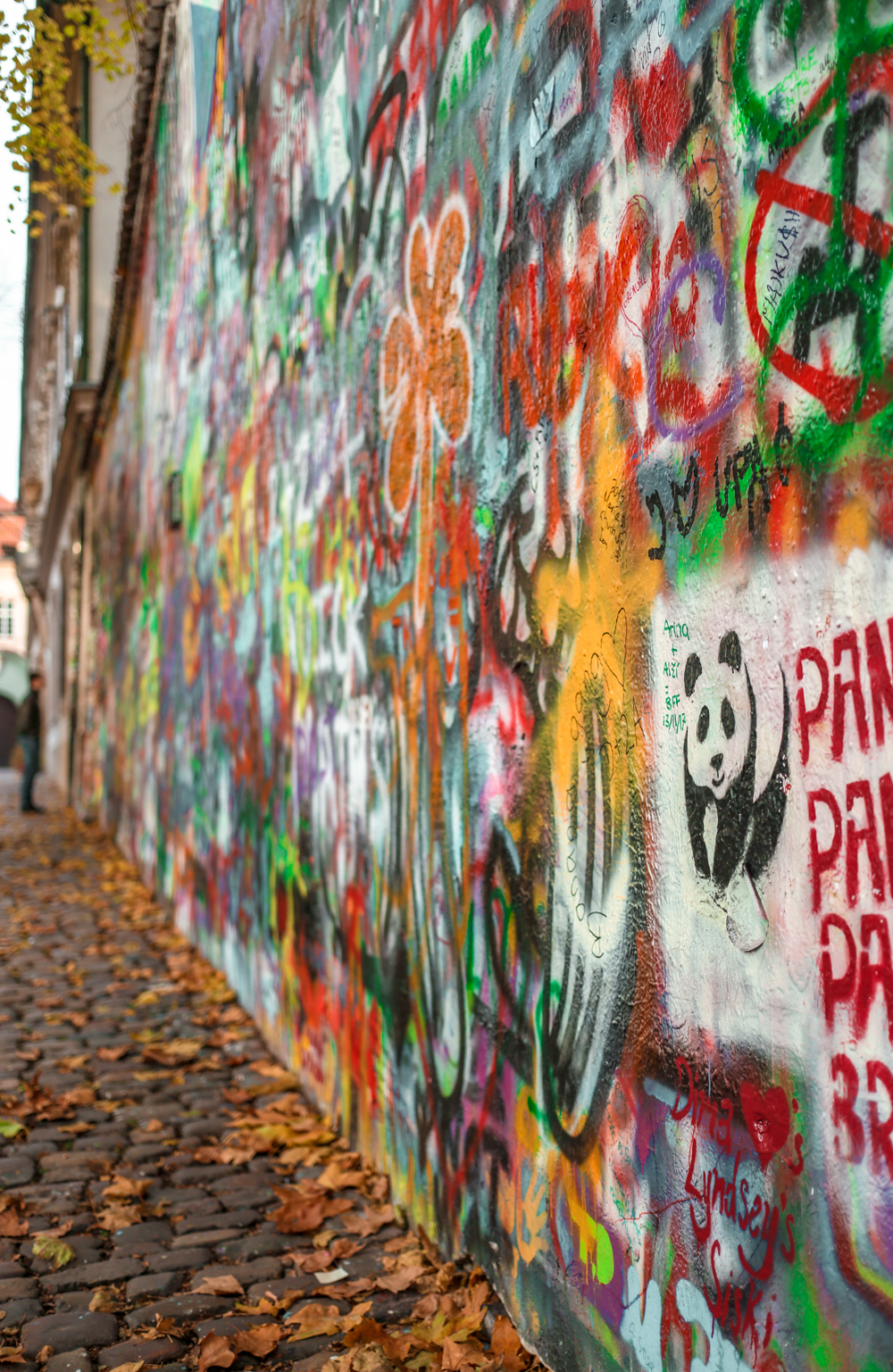 Lennon Wall in Prague Czech Republic