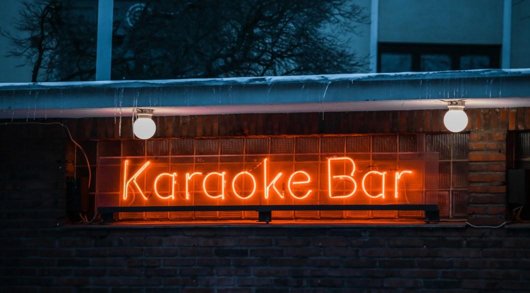 Karaoke Bar Sign Helsinki