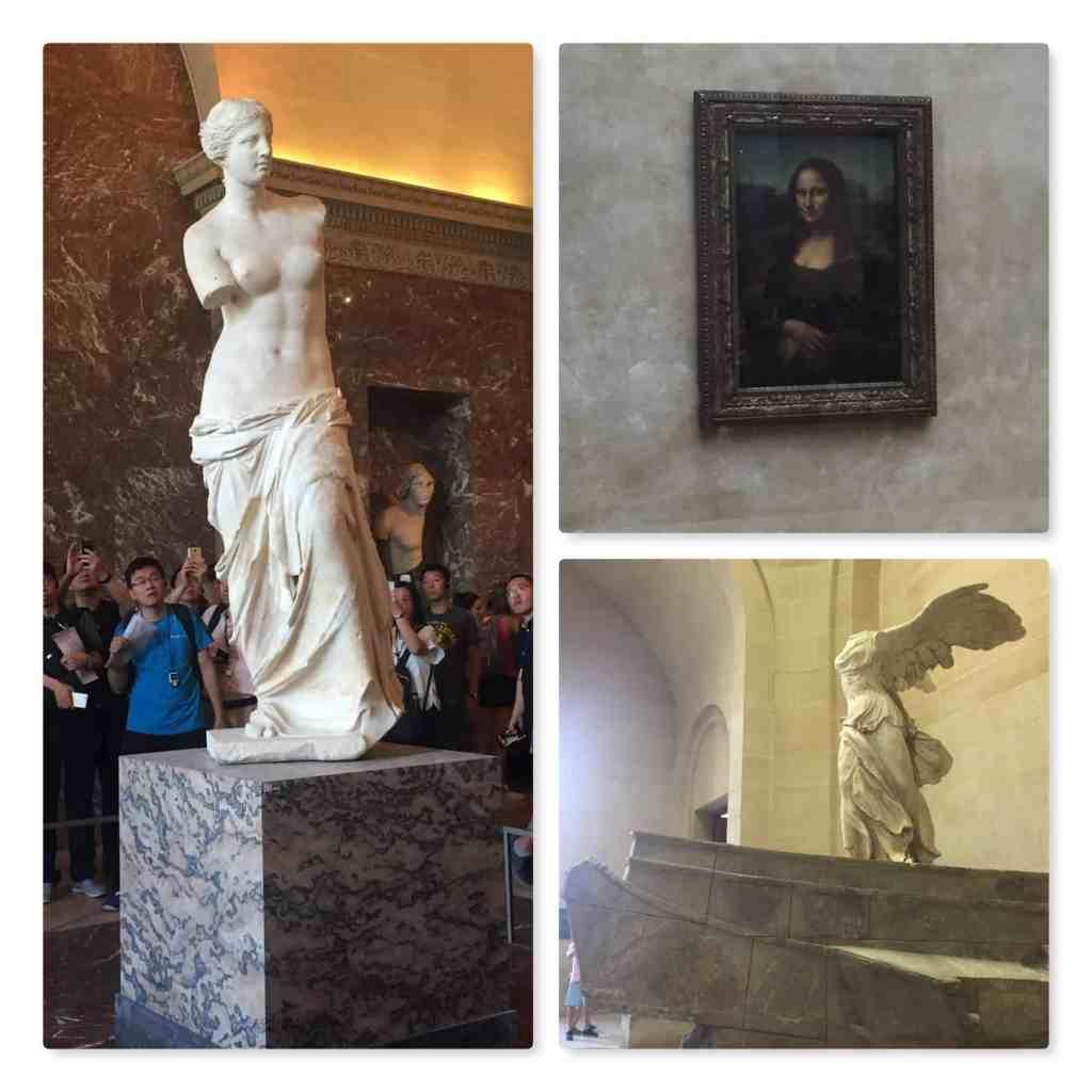 Paris - Louvre Venus de Milo, Mona Lisa, Nike